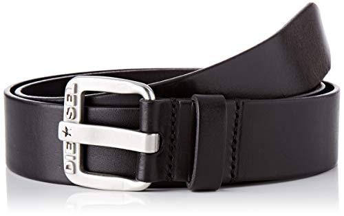 Diesel BLUESTAR, Cinturón para Hombre, Negro (Black/Argento