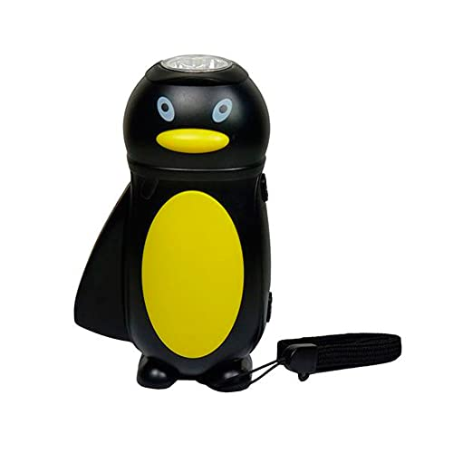 Clenersa Linterna dinamo infantil pingüino, negro, 1 un