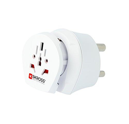 Skross SKR1500202 - Adaptador para enchufe (Universal, Universal, 220-240 V, 16 A, Blanco, 3680 W)