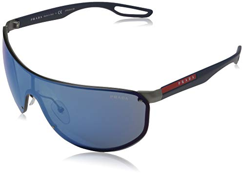Ray-Ban 0PS 61US Occhiali da Sole, Blu (Gunmetal Rubber), 40 Uomo