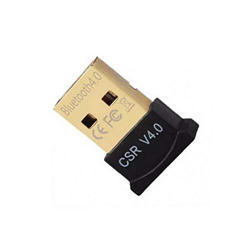 Canjerusof Bluetooth 4.0 USB de Baja energía Micro Dongle Adaptador para PC con Windows 10/8,1/8/7 / Vista/XP, Frambuesa Pi, Linux y estéreo Compatible con Auriculares (Negro)