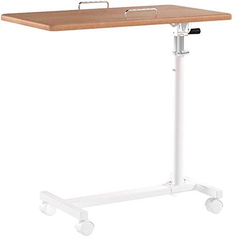 オスマック オスマック サイドテーブル キャスター付き 折りたたみ 高さ調節 昇降 ナチュラル&ホワイト SCY-2168M4CN