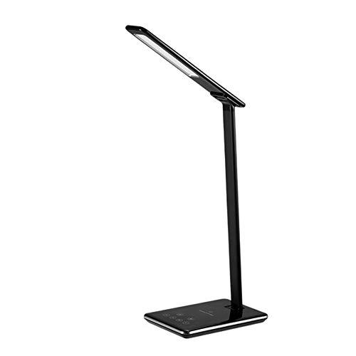 LED Schreibtischlampe Aluminium Klemmleuchte Schwenkbare Schreibtisch Arbeitsleuchte 4 Farb Berührungsempfindliche Verstellbarem Arm Arbeitsleuchte