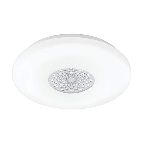 Preisvergleich Produktbild EGLO LED Deckenlampe Capasso 1,  1 flammige Deckenleuchte,  Wandlampe mit Muster,  Material: Stahl und Kunststoff,  Farbe: chrom,  weiß,  Ø: 40 cm