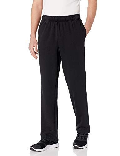 Starter Men's Open-Bottom Sweatpants with Pockets, Amazon Exclusive, Black, XXX-Large