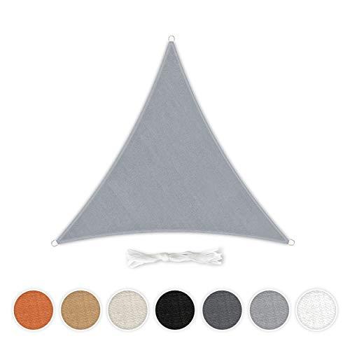 Toldo Hometex Premium Textiles 5 × 5 m triangular, incluye