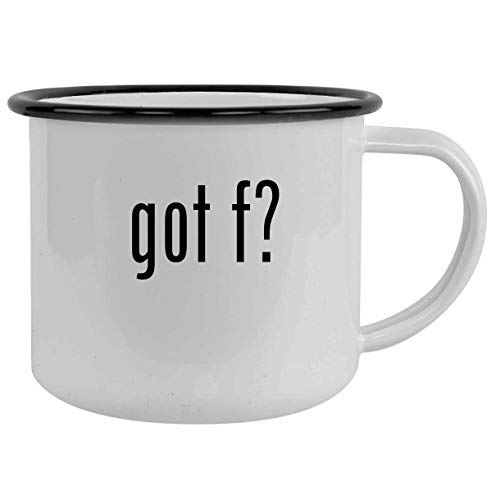 got f? - 12oz Camping Mug Stainless Steel, Black