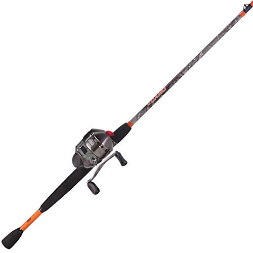 Zebco 33 Approach Spincast Reel and 2-Piece Fishing Rod Combo, Durable Fiberglass Rod with Comfortable Split-Grip EVA Handle, QuickSet Anti-Reverse Fishing Reel with Bite Alert, Camo