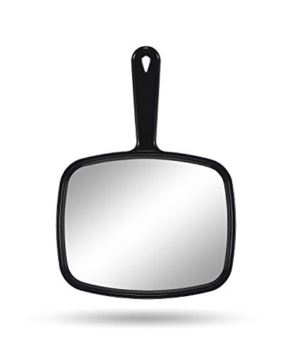 Gladmart Hand Mirror Salon Barber Hairdressing Handheld Mirror with Handle(Square -