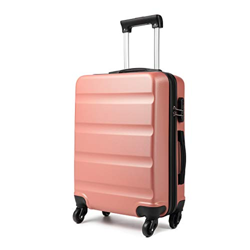 Kono Medium 24'' Hard Shell Suitcase Lightweight Hand Luggage Travel Trolley Suitcase with 4 Wheels and Dial Combination Lock(Nude)