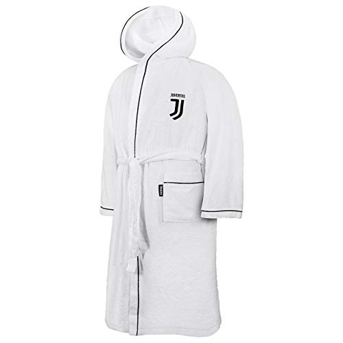 Juventus 96330802131 Accappatoio, 100% Cotone, Bianco, 40x30x8 cm
