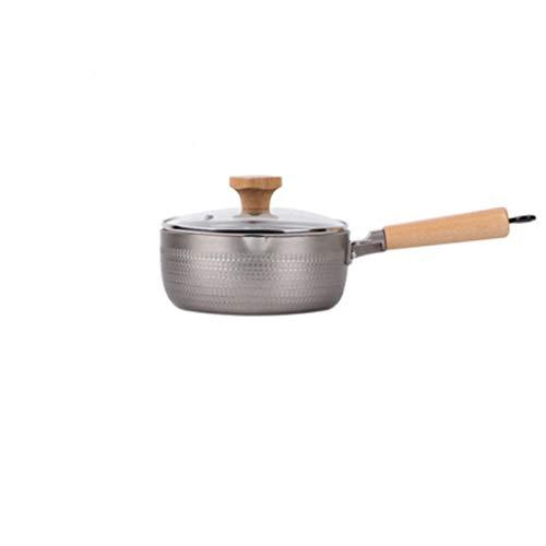 N / B With Lid Nonstick Saucepan, 2.6 Quart, Even Heat Conduction, Prevents Overflow, Double Split Port Design, For Induction Cooker, Electric Ceramic Stove