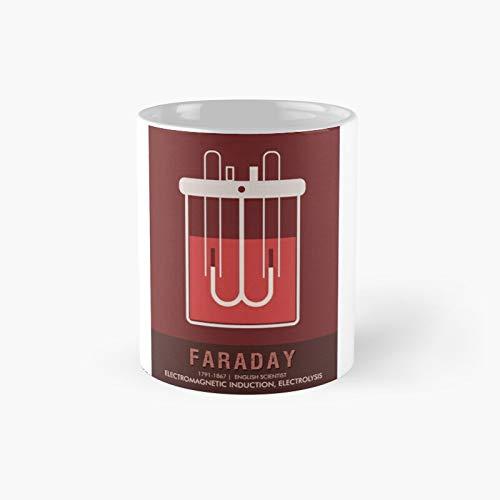 Wissenschaftsposter – Michael Faraday Physiker Chemist Klassische Tasse Bestes Geschenk Lustige Kaffeetasse 325 ml