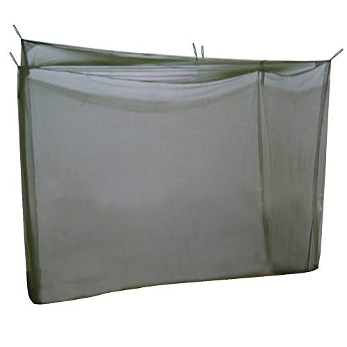 KRATARC Mosquito Netting Canopy Military Green Net Mesh for Single Bed Compact and Lightweight Camping Hiking Climbing Outdoor (Green)
