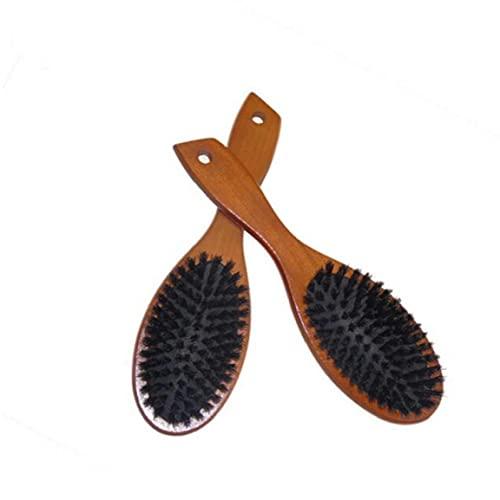 Froiny Labra La Herramienta del Cepillo De Pelo De Jabalí con Cerdas Naturales Cepillo para El Masaje Peine Antiestático del Pelo del Cuero Cabelludo Cepillo Plano Mango De Madera De Haya