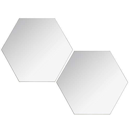 Verre AC-D/éco Lot DE 2 miroirs Adh/ésifs hexagonaux