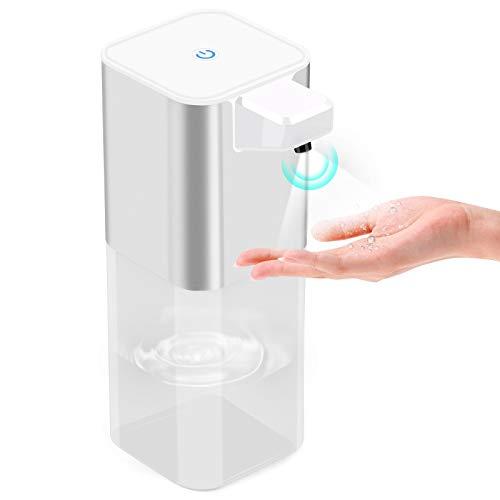 Automatisch Desinfektionsspender 400ml, Automatisk Sprühspender Automatisch Seifenspender Wandbefestigung mit Sensor Infrarot, 2000mAh Eingebaute Batterie, USB-Kabel,für Badezimmer, Küchen, Hotel