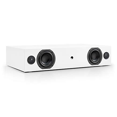 Nubert nuBox AS-225 Soundbar Testsieger | Stereobar für HiFi & Musikgenuss | TV-Lautsprecher mit Bluetooth aptX | Soundbase mit 2 Wege Technik | vollaktive Stereobase für Spitzenklang | Sounddeck Weiß