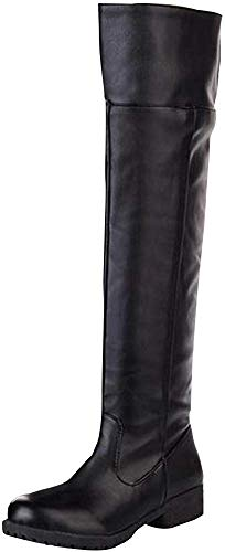 ACE Cos-play Knee-high Boot Riding Boots (womens 10.5, black)