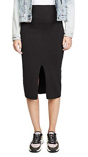 Free People Women's Skyline Midi Skirt, Black, Medium
