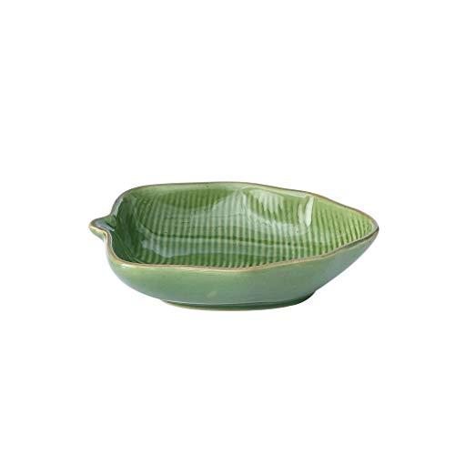 WYBFZTT-188 Hoja en Forma de Bandeja, cerámica seleccionados, Suave y Delicado, Agradable al Tacto, Aspecto Exquisito, se Puede Utilizar como Decoraciones