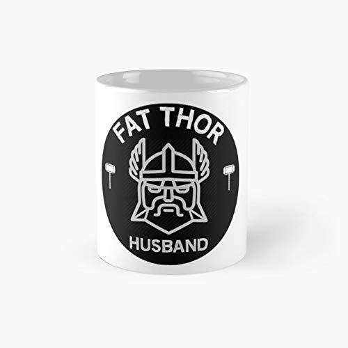 Fat Thor Husband Shirt - Taza clsica para regalo de tamao padre, diseo con texto en ingls 'Tuck Driver Dad Guys Face Man'   El mejor regalo divertidas tazas de caf de 325 ml