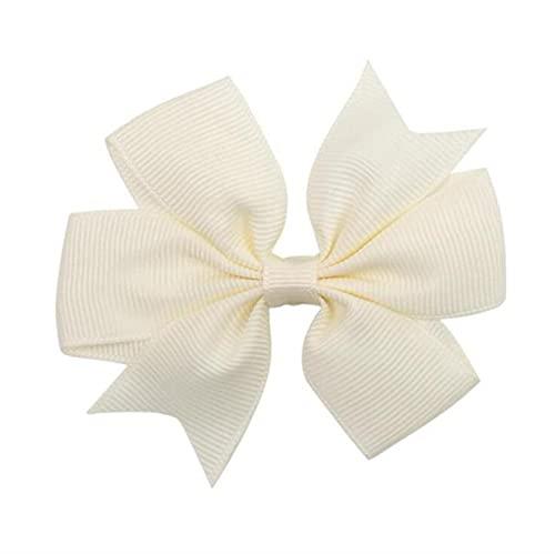 10pcs/lot 8cm Solid Grosgrain Ribbon Bow Hairpins for Girls Hair Bows Cute Bow Hair Clips Kids Headwear Hair Accessorie