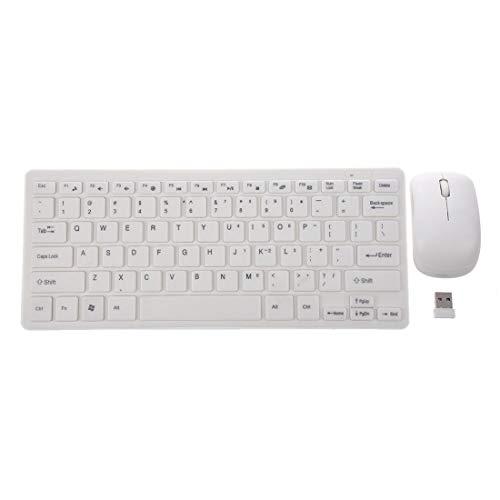 JINKEBIN Teclado Teclado portátil de 2.4GHz y PC de ratón PC QWERTY
