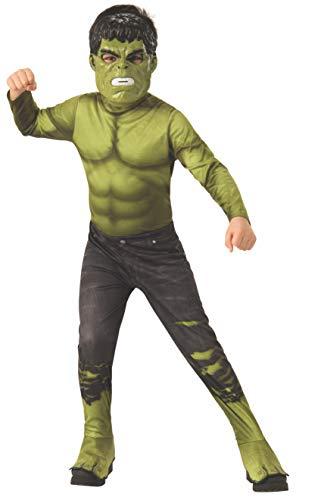 Rubies - Disfraz Oficial de Los Vengadores Endgame Hulk, clásico, para niños, tamaño Mediano, Edad 5 – 7, Altura 132 cm