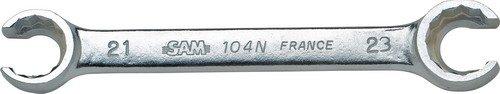 Rodac SAM-104-N-28X30 Offener Ringschlüssel Zwölfkant 28×30mm Inhalt: 1 Stück, verchromt, matt, 28 x 30 mm