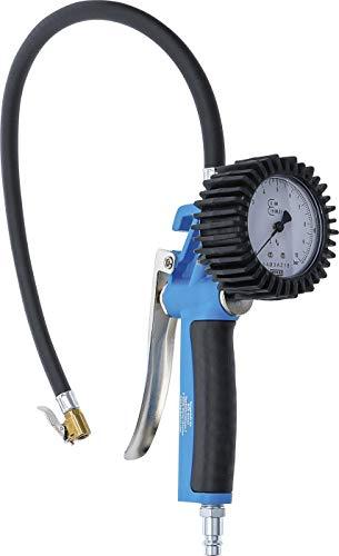 BGS 55410 | Druckluft-Reifenfüllpistole | geeicht | 0 - 10 bar | Reifenfüllmessgerät | Reifendruckmesser | Reifenfüller | Reifendruckprüfer