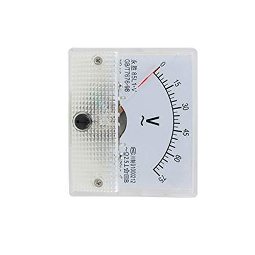 Aexit 85L1AC 0-75V Rechteck Volt Analog Meter Messgerät weiß 70g Klass 2.5 de