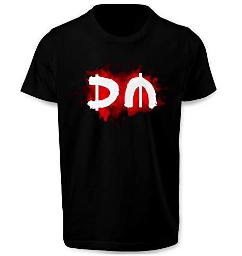 Depeche Mode Red Smoke DM Herren T Shirt T-Shirt Prime Quality Kurzarm (Schwarz, L)