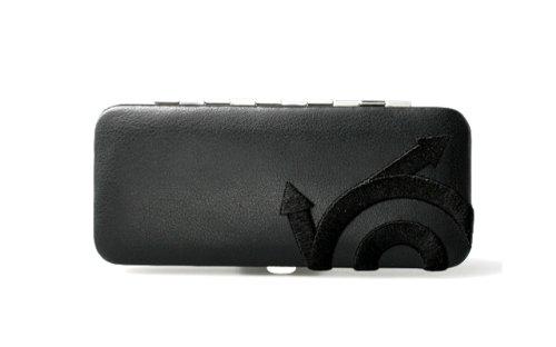 Pfeilring Nappa Trousse de manucure en cuir 5 pièces Nickel Noir