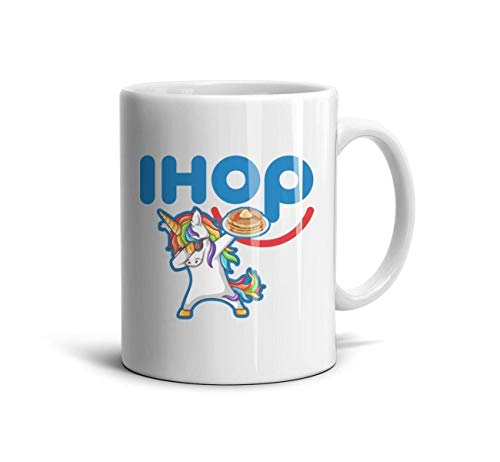 WintyHC IHOP Pancakes Have a Nice Day Novelty Coffee Mugs Large Handle Tea Cup 11 OZ Ceramic TeaMugs