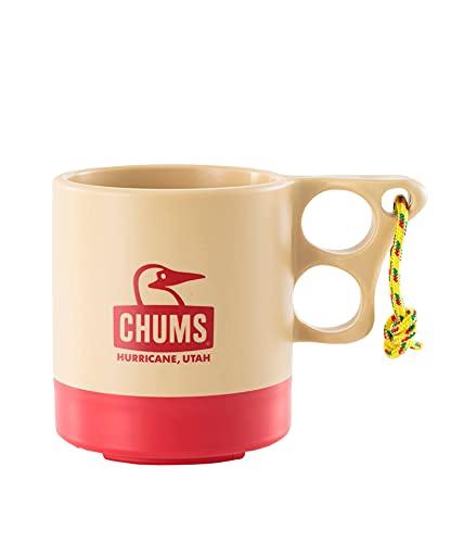 チャムス (CHUMS) キャンパーマグカップ ベージュ/レッド 250mL CH62-1244-B053-00