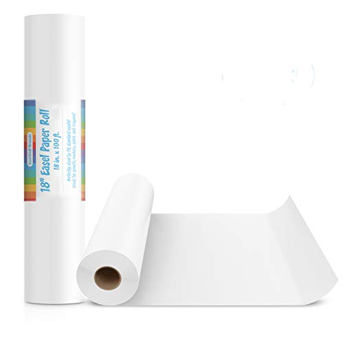 """2 Pack of 18-Inch Easel Paper Roll for Arts & Crafts, Fits Most Standard Kids Easels, 100-Foot Rolls, 18""""x100'"""