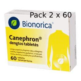 CANEPHRON * 120 schede / 2 x 60 / - Contro l\'infezione delle vie Urinarie, Cistite, Sollievo dal Dolore.