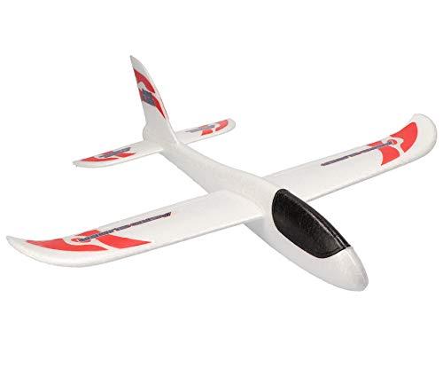 Lik Kai Styroporflieger | super Fliegender Gleiter | Flugzeug | Fluggleiter | Hand Wurfgleiter | 48cm Spannweite | super leichtes Kinder Flugzeug Spielzeug Outdoor | farblich Sortiert