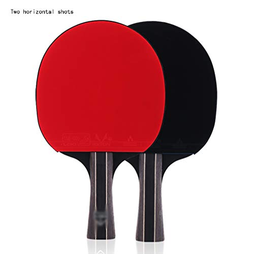 Palas de Ping Pong Tabla Raqueta de Tenis Raqueta Principiante Doble Disparo 2 Piezas de Cinco Estrellas Mesa de Ping Pong Horizontal, Profesional Upgrade Dos Piezas