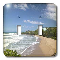 3dRose lsp_74498_2 Puerto Rico, West Coast, Rincon, Domes Beach Double Toggle Switch
