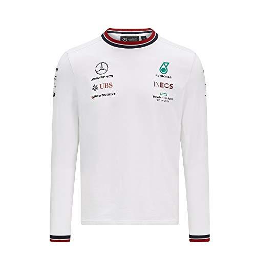 Unbekannt Mercedes AMG Team Langarmshirt 2021 - weiß (L)