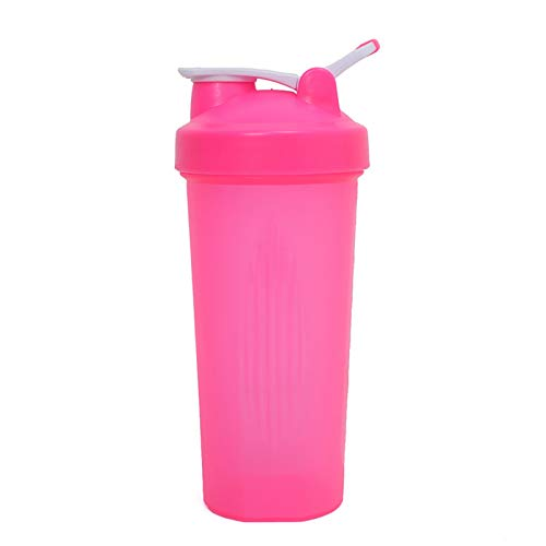 LSGMC Shaker Bottle, Leak Proof Mixer Cup, Mixing Bottles for Protein Shakes, Premium Fitness Accessories, 600ml,Pink