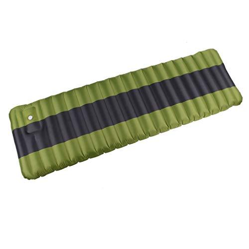 J&X Isomatte Camping Kleines Packmaß Ultraleichte Isomatte, Aufblasbare Luftmatratze Geeignet Schlafmatte für Camping Outdoor Reise Wandern Strand (Color : Fruit Green ash)