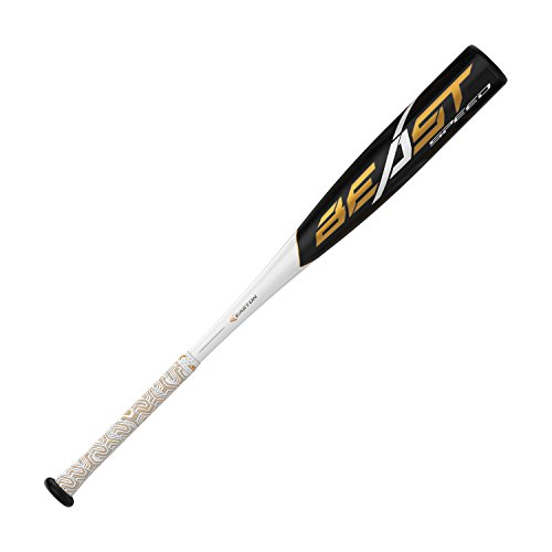 EASTON Beast Speed 10 2 5/8quot USA Youth Baseball Bat | 28 inch / 18 oz | 2019 | 1 Piece Aluminum | ATAC Alloy | Speed End Cap | Lizard Skin Grip