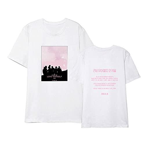 kexx Camiseta BTS Impresión 3D Cuello Redondo Camiseta Casual Rap Monster Jin Suga J-Hope Jimin V Jung Kook Camiseta Camiseta para Mujeres Hombres Niños Niñas Fans