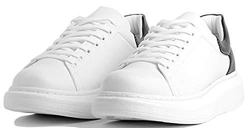 Chekich CH256 - Zapatillas de deporte para hombre, ligeras, para el tiempo libre, color Blanco, talla 43 EU