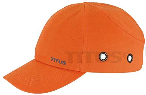 TITUS Lightweight Safety Bump Cap - Baseball Style Protective Hat (Regular, Blaze Orange)