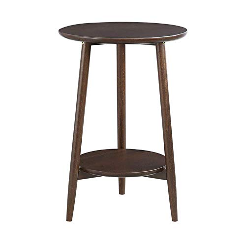 Home & Selected furniture/plank met 2 zijlagen, massief hout, rond, voor woonkamertafel, salontafel, tafeltennistafel, 40 x 60 cm (kleur: bruin)