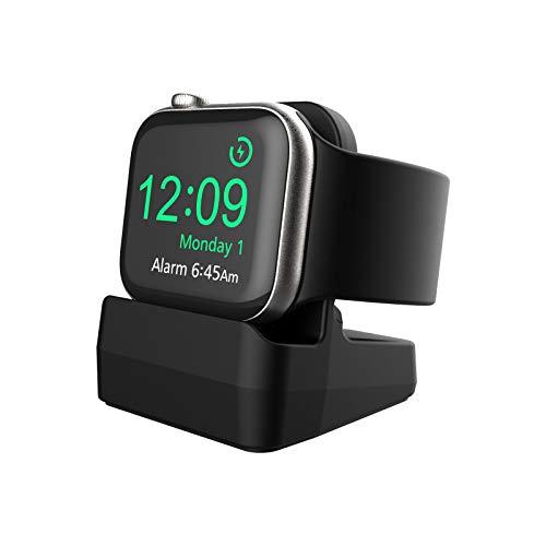 Cozycase Supporto Compatibile con Apple Watch modalità Night Stand per Apple Watch Series SE/6/5/4/3/2/1, 44mm/ 42mm/ 40mm/ 38mm (Nero)
